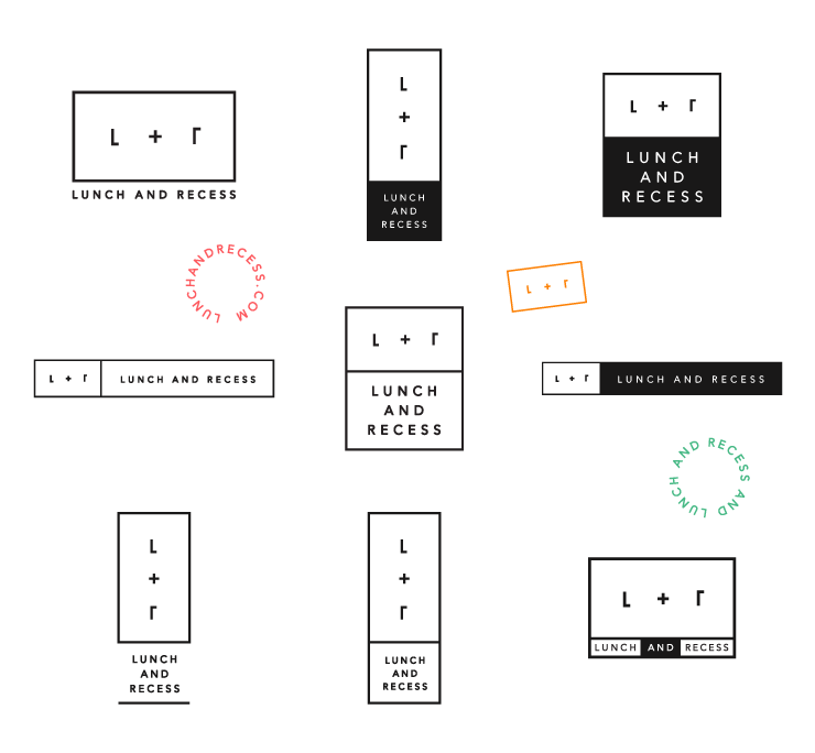 Logo System for Lunch and Recess by Fuzzco