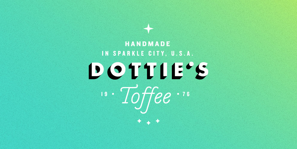 Designed for Dottie's Toffee by Fuzzco