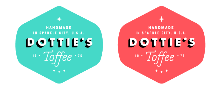 Logo for Dottie's Toffee by Fuzzco