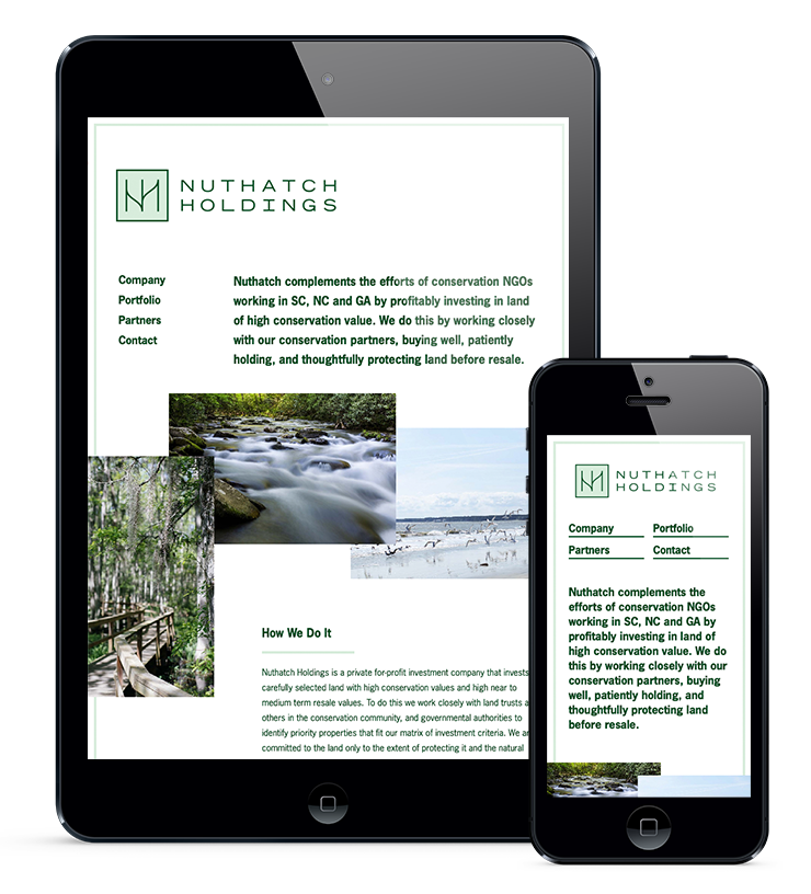 iPad & iPhone for Nuthatch Holdings by Fuzzco