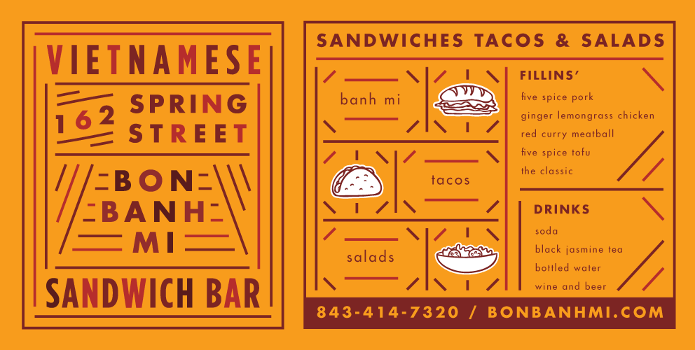 Designed for Bon Banh Mi by Fuzzco